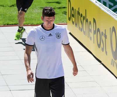 Mario Gomez Almanya antrenmanında