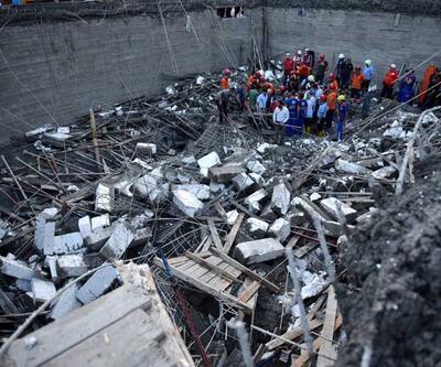 Mersin'de kapalı havuz inşaatı çöktü: 1 ölü, 1 yaralı