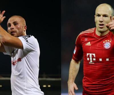 Çıkan oyuncu Gökhan Töre, giren oyuncu Robben