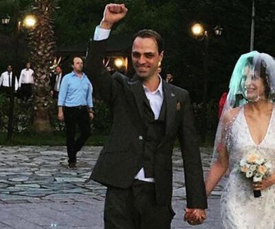 Ertan Saban ve Ebru Özkan evlendi