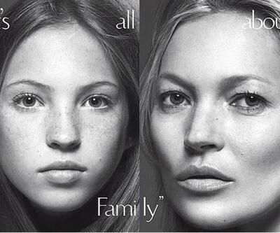 Kate Moss'un kızı 13 yaşında kapak oldu