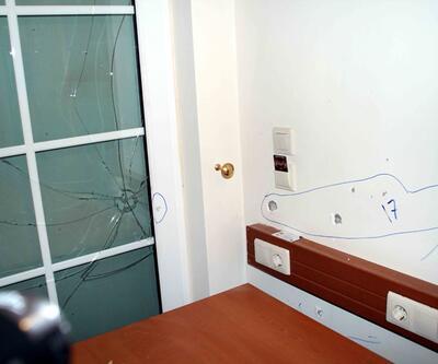 İşte Erdoğan'ın kaldığı otelde yaşanan şiddetin izleri