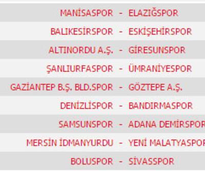PTT 1. lig 2016-2017 sezonu fikstürünün tamamı