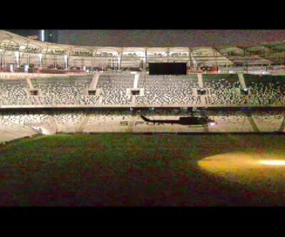 Darbecilerin Vodafone Arena'ya helikopterle indiği anlar