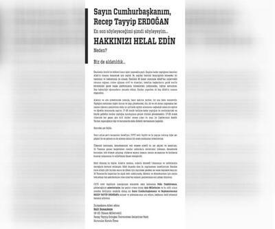 Dumankaya'dan Erdoğan'a: Hakkınızı helal edin, biz de aldatıldık