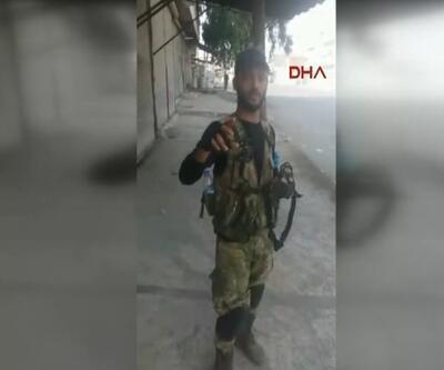ÖSO'nun girdiği Cerablus kent girişinden görüntüler