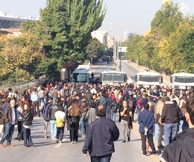 Gar katliamı anmasında polis müdahalesi