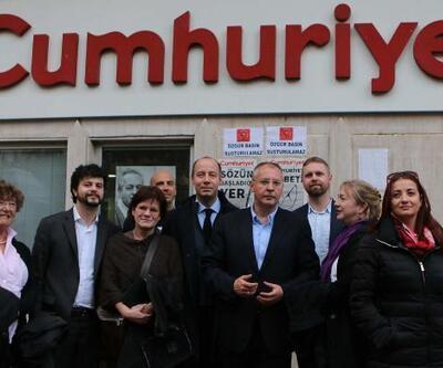 Avrupalı heyetten Cumhuriyet Gazetesi'ne ziyaret