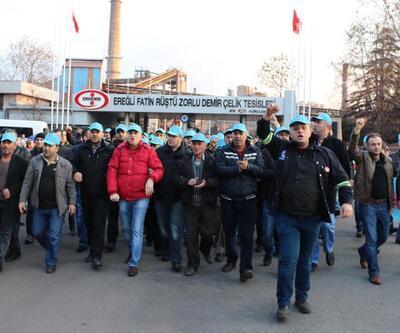 Erdemir'de toplu iş sözleşmesi eylemi