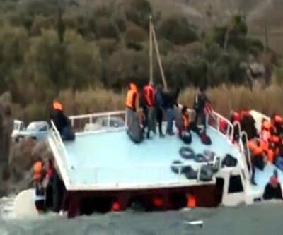 Ege'de yine mülteci teknesi battı: O anda böyle can pazarı yaşandı