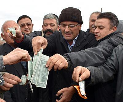 Aksaray'da besiciler 'dolar' yaktı