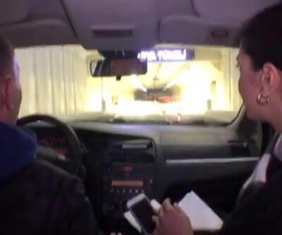 Avrasya Tüneli'nden geçiş anı