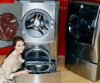 Çift yıkama gözüne sahip çamaşır makinesi