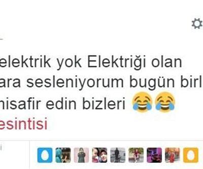 İstanbul'daki elektrik kesintisi sosyal medyayı salladı