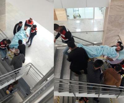 Yakalanan PKK'lı adliyeye sedyeyle getirildi