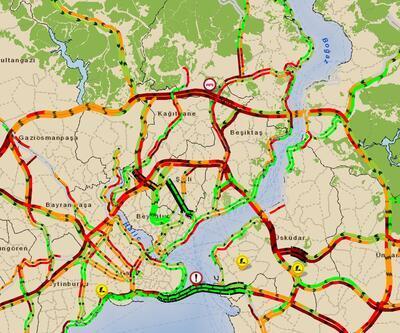 Kar yağışı İstanbul trafiğini vurdu