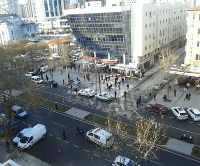 Gaziantep Emniyet Müdürlüğü önündeki çatışmadan kareler