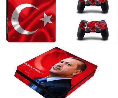PS4 Slim için Cumhurbaşkanı Erdoğan çıkartmaları satışta