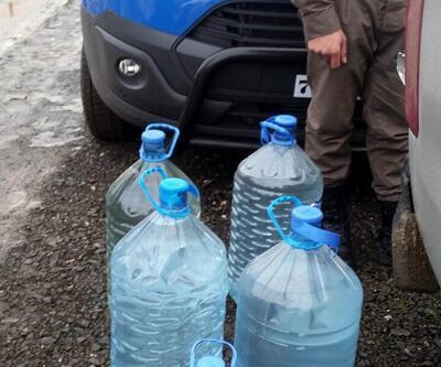 Lüks villadan 200 litre sahte içki çıktı