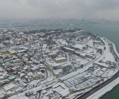 İşte hava fotoğraflarıyla karlar altındaki İstanbul