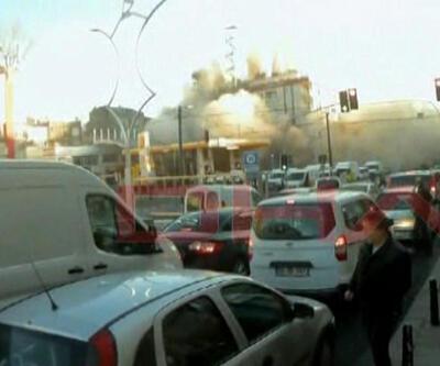 Zeytinburnu'ndaki bina, 5 saniyede yerle bir oldu