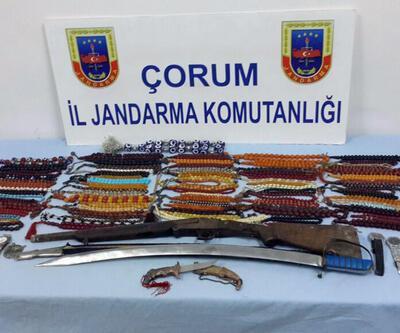Çorum'daki köylünün kılıcı 2 kişiyi tutuklattı