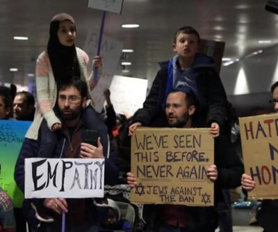 Müslüman ve Yahudilerden ortaklaşa Trump protestosu