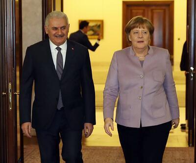 Başbakan Yıldırım, Angela Merkel ile görüştü