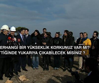 Başbakan Küçük Çamlıca TV-Radyo Kulesi inşaatını inceledi