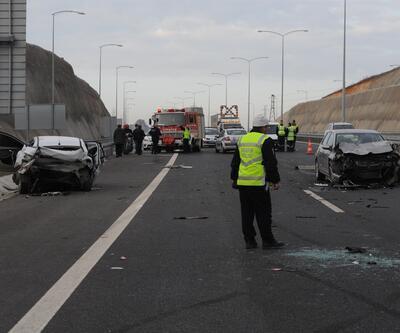 Osmangazi Köprüsü yolunda zincirleme kaza