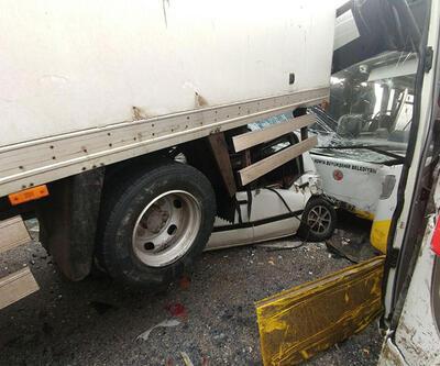 Konya'da 40 aracın karıştığı kazadan görüntüler