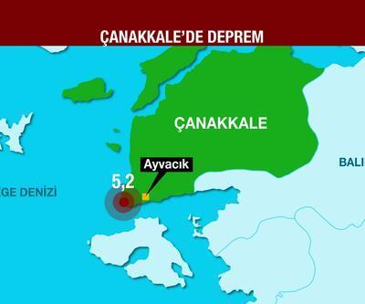 Çanakkale'de peş peşe depremler
