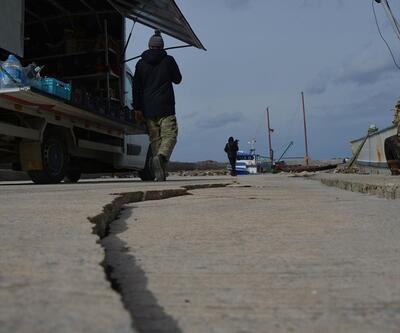 Çanakkale depremi limanı böyle çatlattı
