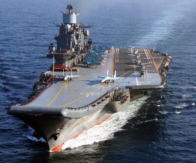 Rus uçak gemisi Amiral Kuznetsov Suriye'den döndü