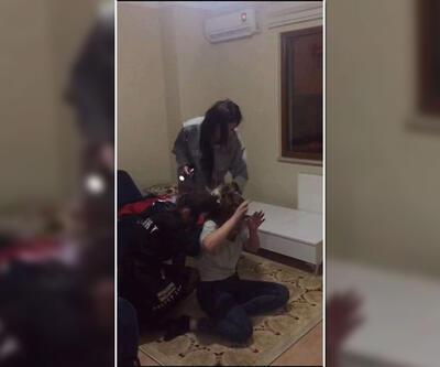 Trabzon'daki üniversiteli kızların kavgası kamerada