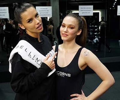 Adriana Lima ile Melisa Şenolsun ringe çıktı
