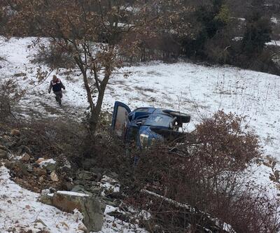 Jandarma aracı şarampole uçtu: 3 yaralı