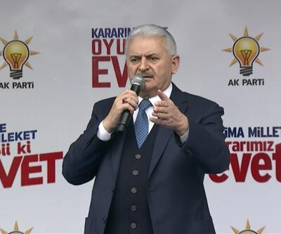 Başbakan Binali Yıldırım Kahramankazan mitinginde konuştu