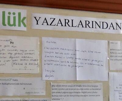 Öğrencilerin kütüphanesi mektuplar sayesinde oluştu