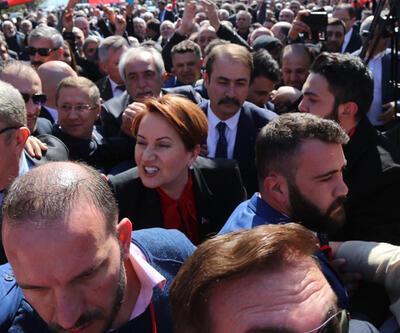 Meral Akşener'in konuştuğu alanı bastılar