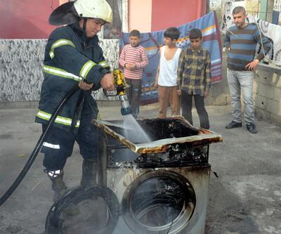 Çamaşır yüzünden ev yandı