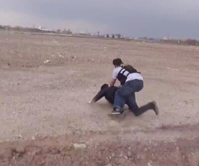 Uyuşturucu satıcısı polisten böyle kaçmaya çalıştı