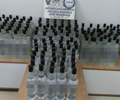 Çorum'da 170 şişe sahte rakı ele geçirildi