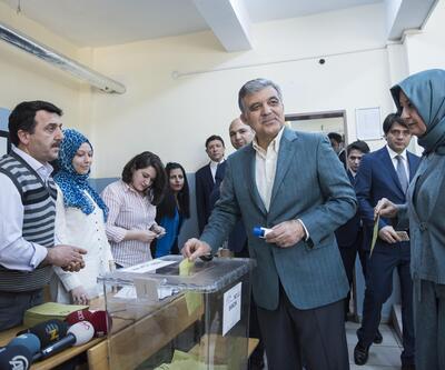 11. Cumhurbaşkanı Abdullah Gül oy kullandı