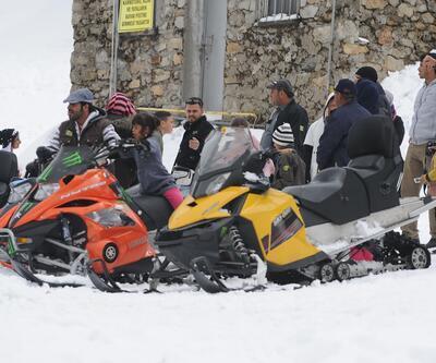 Uludağ'da Nisan ayında kar kalınlığı 40 santimetre oldu