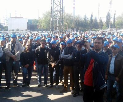 Tüpraş'ta işçiler iş bıraktı