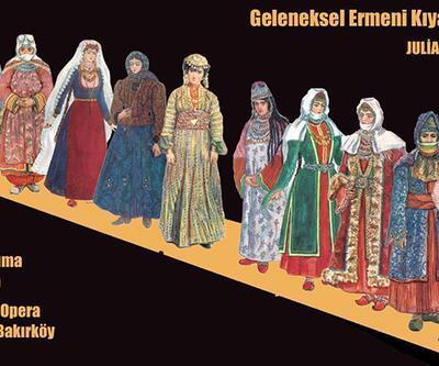 Geleneksel Ermeni kıyafetleri defilesi Leyla Gencer'de