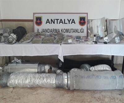 Antalya jandarması uyuşturucu imalathanesini ortaya çıkardı