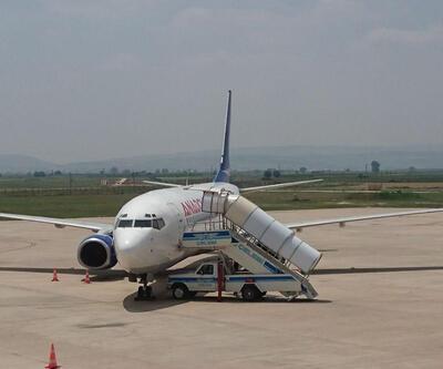 Uçağın motoruna çarpan leylek sefer iptal ettirdi