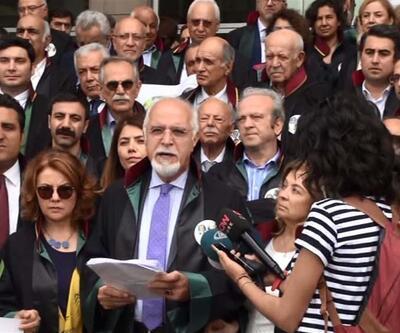 Avukatlardan adliye önünde Cumhuriyet gazetesi eylemi
